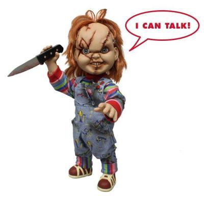 Horror child s play chucky bad guy with sound 38cm reprod