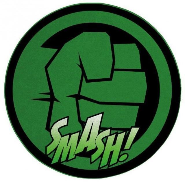 Hulk tapis d interieur diametre 80cm hulk smash