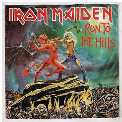 Iron maiden 45t run to the hills printed in holland