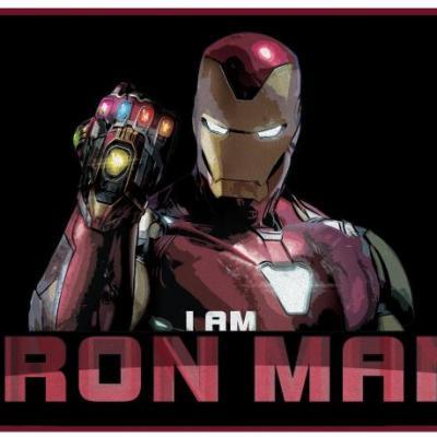 Iron man tapis d interieur 70x50cm i am iron man