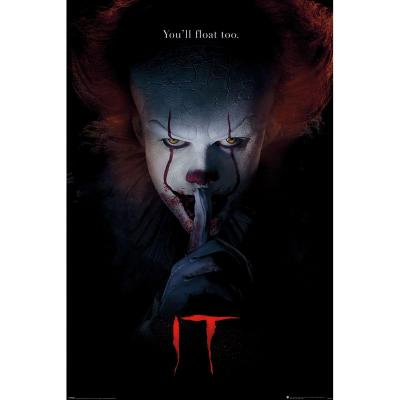 It poster 61x91 pennywise hush