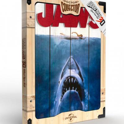 Jaws art poster woodarts 3d en bois 30x40cm