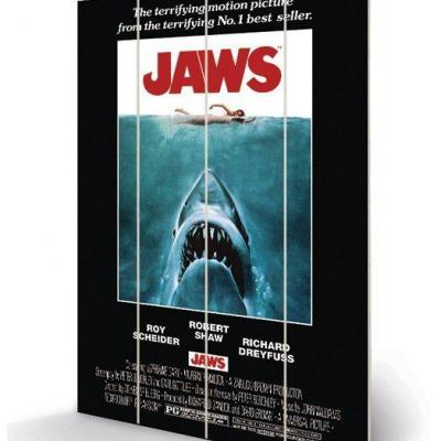 Jaws one sheet impression sur bois 40x59cm