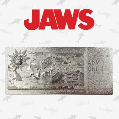 Jaws regate d amity ticket plaque argent collector