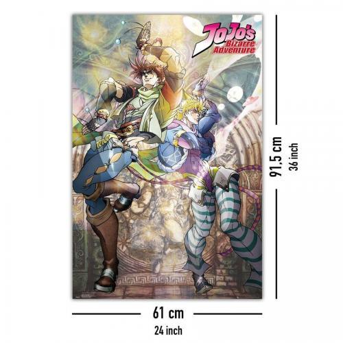 Jojo s bizarre adventure joseph ceasar poster 61x91 5cm