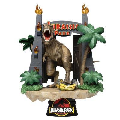 Jurasic park park gates diorama d stage 15cm