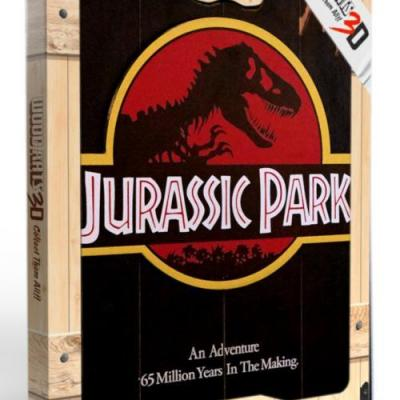 Jurassic park 1993 poster woodarts 3d en bois 30x40cm