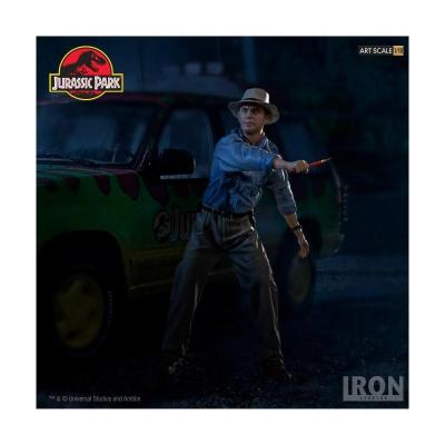 Jurassic park alan grant statuette art scale 19cm