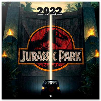 Jurassic park calendrier 2022 30x30cm