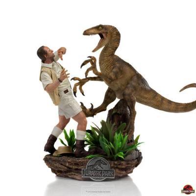 Jurassic park clever girl statuette art scale 25cm