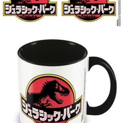 Jurassic park japanese text mug interieur colore 315ml