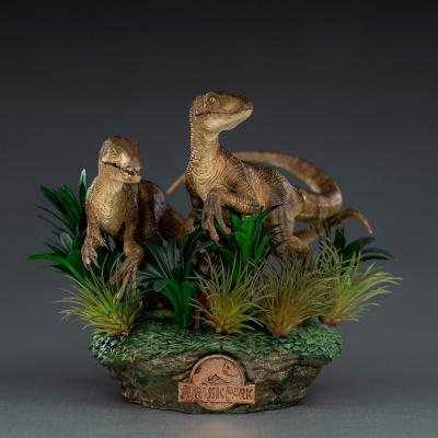 Jurassic park just the two raptors statuette deluxe art scale 20cm