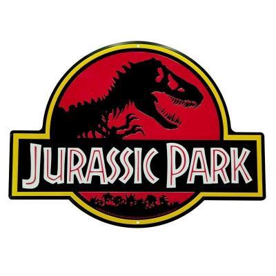 Jurassic park logo plaque metal 28x38cm