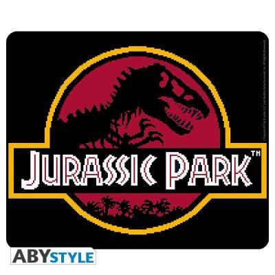 Jurassic park pixel logo tapis de souris 23 5x19 5cm