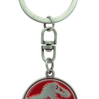Jurassic park porte cles en metal