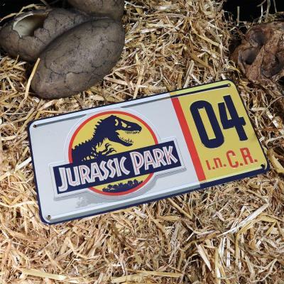 Jurassic park replique plaque mineralogique 9 1x2 5x12 5cm
