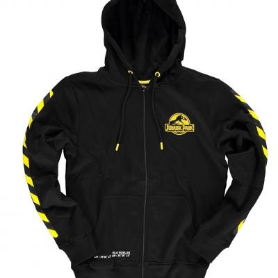 Jurassic park zipper hoodie homme