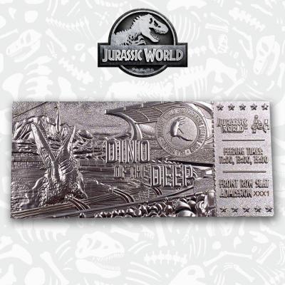 Jurassic world mosasaurus ticket plaque argent collector