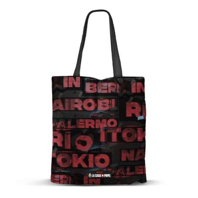 La casa de papel cities shopping bag 40x34x1cm