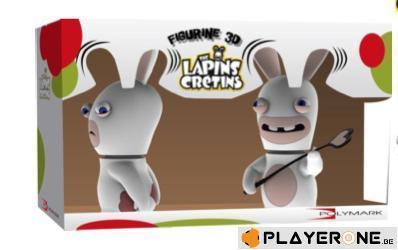 Lapins cretins figurine 3d lapin chatie biendouble pack 18 cm