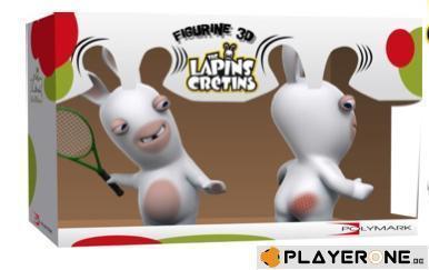 Lapins cretins figurine 3d lapin tennis double pack 18 cm