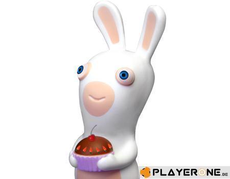 Lapins cretins figurine anti stress modele 3 gateau 10 cm
