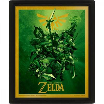 Legend of zelda 3d lenticular poster 26x20 link