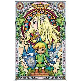 Legend of zelda poster 61x91 stained glass