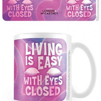 Lennon mccartney living is easy with eyes closed mug 315ml