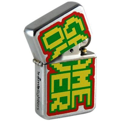 Lighter game over retro pixel arcade style tin box
