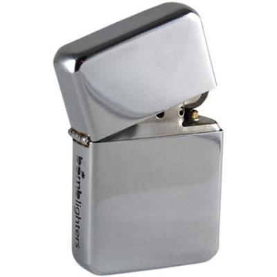 Lighter highly polished chrome tin box