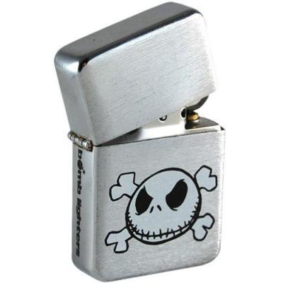 Lighter skull tin box