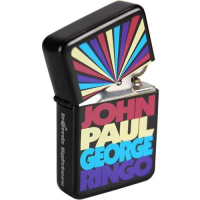 Lighter the beatles john paul george ringo tin box