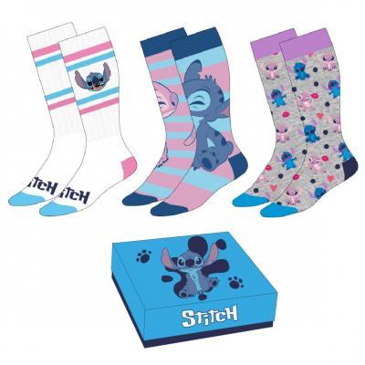 Lilo stitch pack de 3 paires de chaussettes femme p35 41
