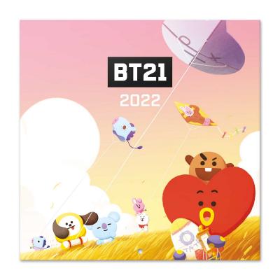 Line friends bt21 calendrier 2022 30x30cm