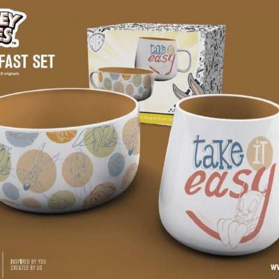 Looney tunes set petit dejeuner bol mug orginals