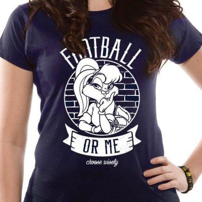 Looney tunes t shirt in a tube football or me girl