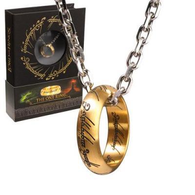 Lord of the rings anneau unique et chaine acier