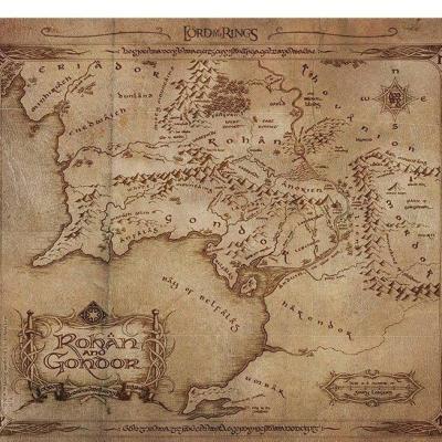 Lord of the rings rohan gondor tapis de souris 23 5x19 5cm 1