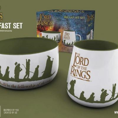 Lord of the rings set petit dejeuner bol mug camaraderie