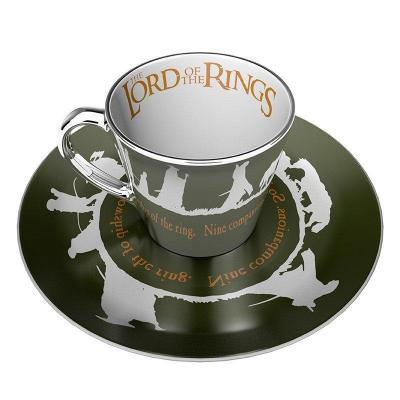 Lord of the rings tasse a cafe miroir et soucoupe