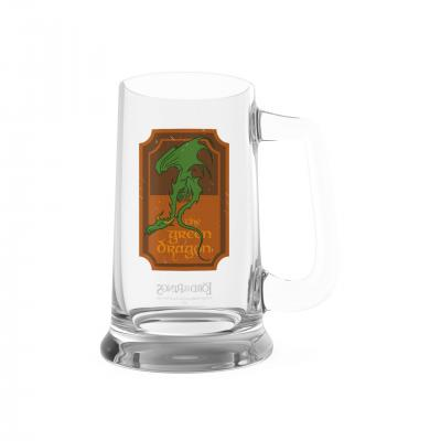Lord of the rings the green dragon chope en verre 620ml