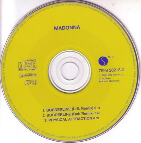 Madonna borderline maxi cd occasion 2