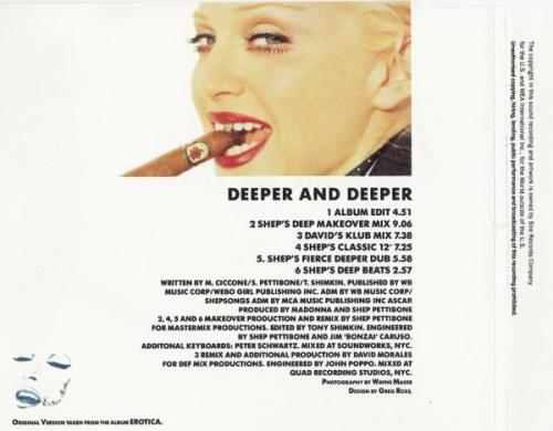 Madonna deeper and deeper maxi cd occasion 1