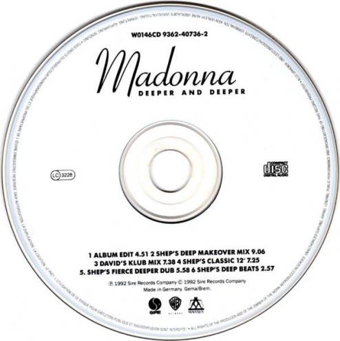 Madonna deeper and deeper maxi cd occasion 2