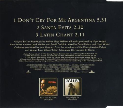 Madonna don t cry for me argentina maxi cd occasion 2