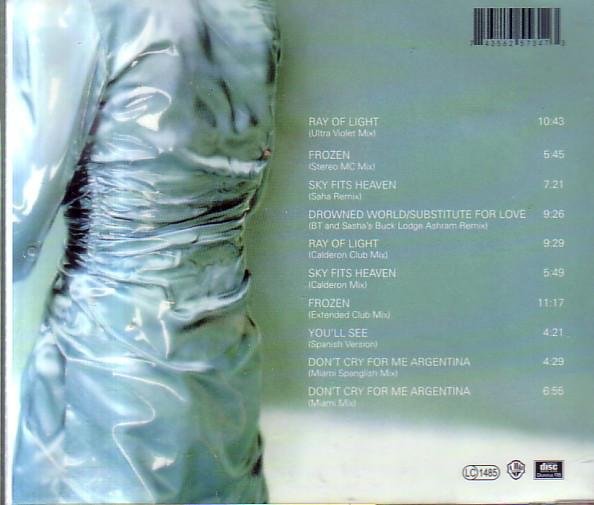 Madonna ray of remixes cd occasion rare 1