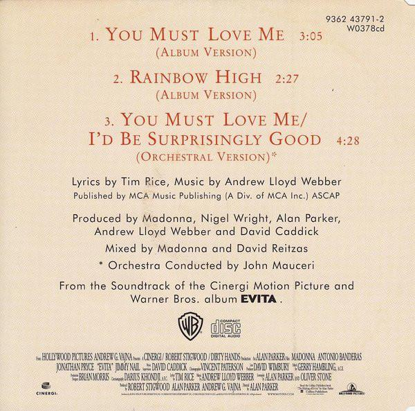 Madonna you must love me maxi cd occasion 1