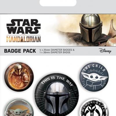 Mandalorian this is the way pack de 5 badges