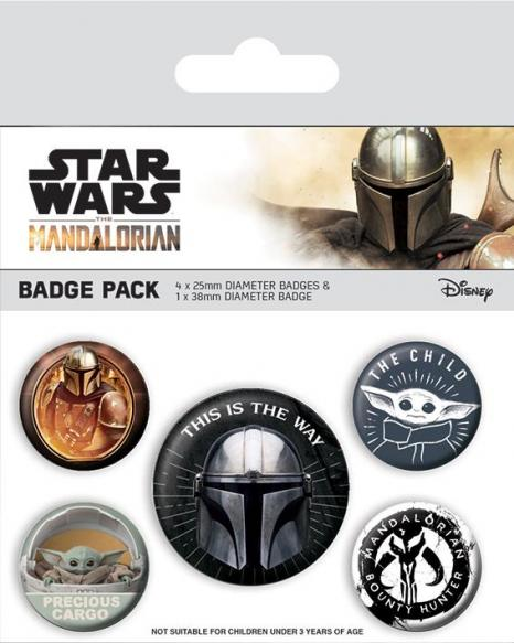 Mandalorian this is the way pack de 5 badges